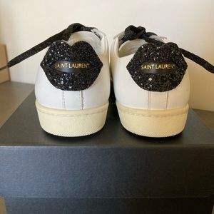 Nib Saint Laurent Andy Glitter Lips Sneakers 35.5